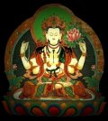 Chenrezig is also known as Avalokiteshvara as well as Kwan Yin. Om Mani Padme Hum